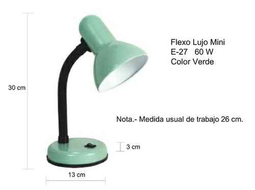 FLEXO MINI VERDE E27 60W. 1177090